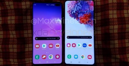 Galaxy S10+ vs. Galaxy S20+. Kuva: xda-developers / Max Weinbach.