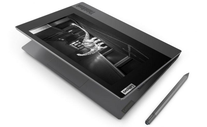 Lenovo ThinkBook Plussan kannessa on 10,8 tuuman E Ink -näyttö.