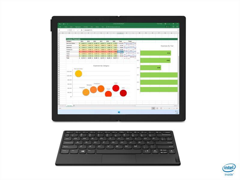 ThinkPad X1 Foldia voi käyttää myös näin.