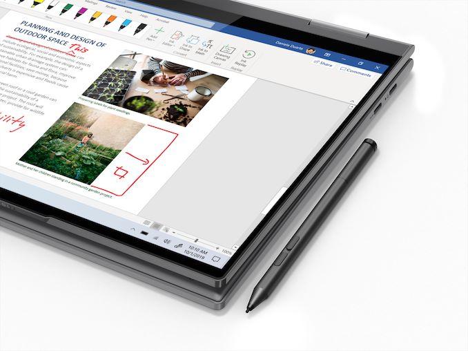 Yoga 5G:tä voi käyttää myös kosketuskynän kanssa.