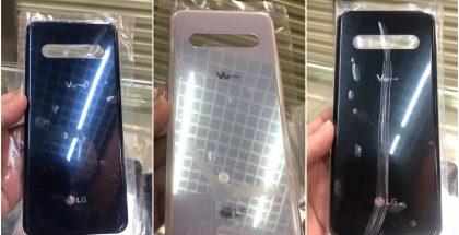 LG V60 ThinQ:n takalasipaneeli vuotokuvissa eri väreissä. Kuvat: /Leaks.
