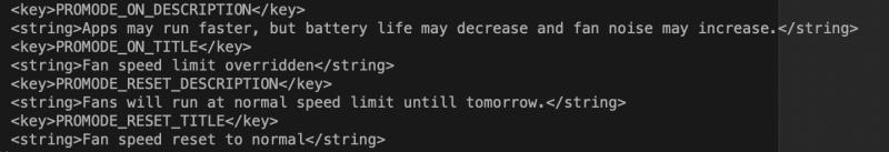 Pro Modesta löytyi viittauksia macOS:n testiversion koodista.