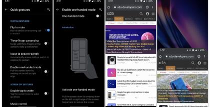 OnePlussan uusi yhdellä kädellä käyttöä helpottava ominaisuus. Kuvat: xda-developers.
