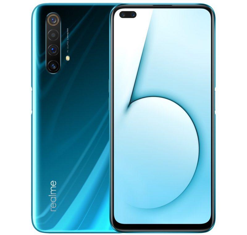Realme X50 5G:ssä on 6,57 tuuman näyttö, kaksi etukameraa ja neljä takakameraa.