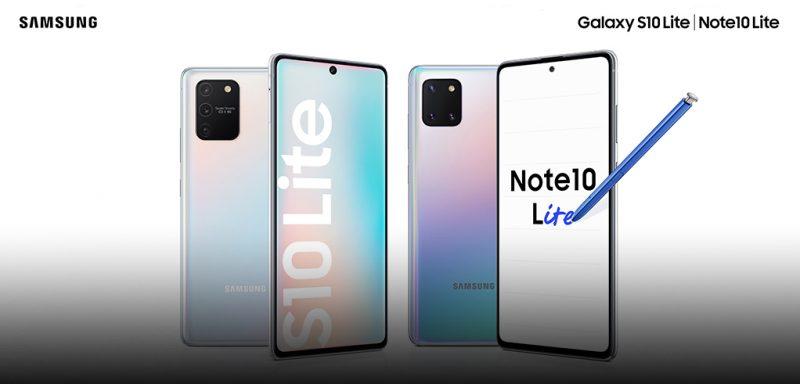 Samsung Galaxy S10 Lite ja Galaxy Note10 Lite.