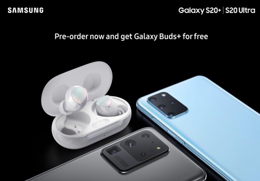 Samsung Galaxy S20 -sarjan vuotanut markkinointikuva. Kuva: Evan Blass.