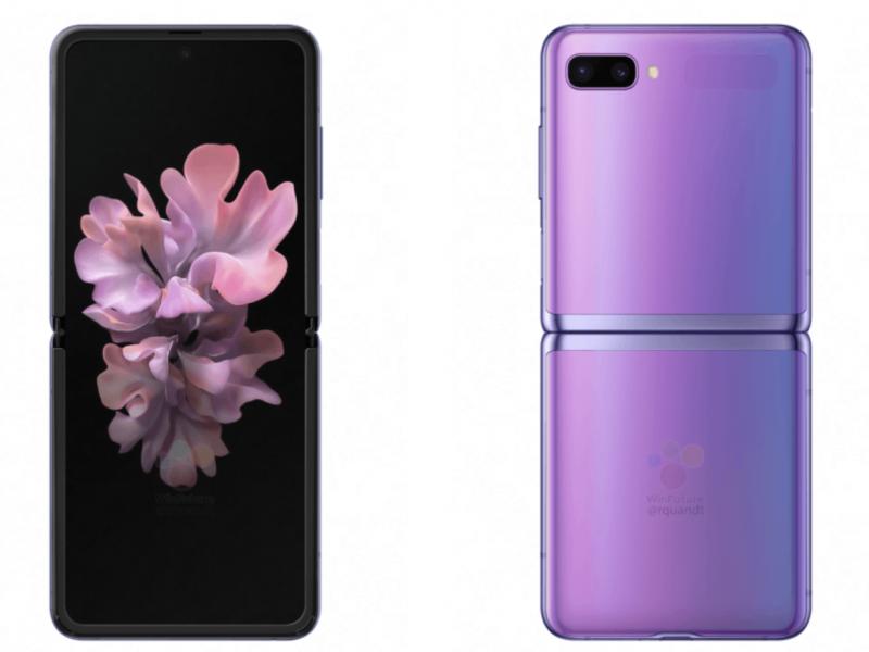 Violetti on yksi Galaxy Z Flipin värivaihtoehdoista. Kuva: WinFuture.de.
