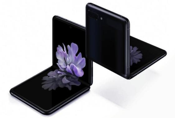 Galaxy Z Flipin voi avata 90 asteen kulmaan. Kuva: WinFuture.de.
