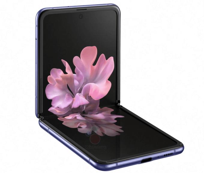"""Galaxy Z Flipin sisäpuolen alakulmissa on """"tassut"""", jotka pehmentävät puhelimen kahden puoliskon sulkeutumista. Kuva: WinFuture.de."""
