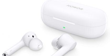 Honor Magic Earbuds -kuulokkeet ja lataava säilytyskotelo.
