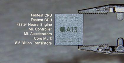 Apple on käyttänyt omia järjestelmäpiirejä älypuhelimissaan jo iPhone 4:stä asti. Nykyisin Applen järjestelmäpiirit ovat älypuhelinmarkkinoiden selvästi tehokkaimpia.