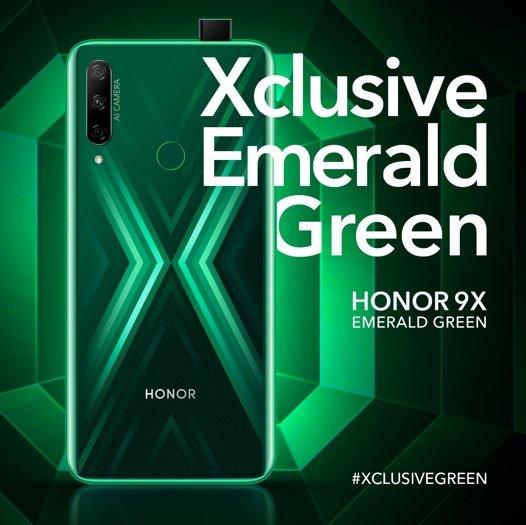 Honor 9X on tulossa uutena vihreänä Emerald Green -värinä.