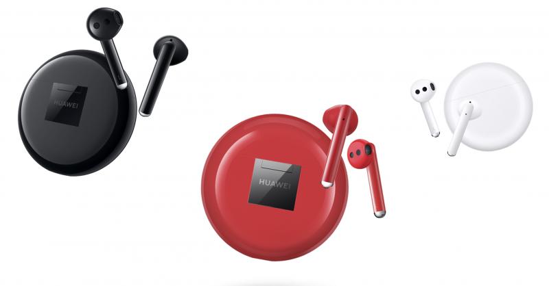 Huawei FreeBuds 3 -kuulokkeiden eri värivaihtoehdot.