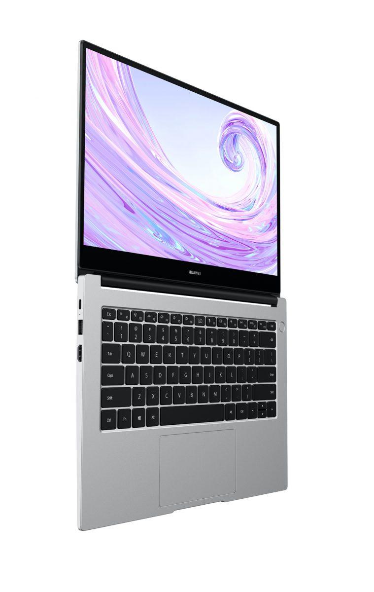 """Uutuuskaksikosta MateBook D 14"""":n kansi aukeaa tällä tavalla 180 astetta suoraksi. 15 tuuman mallin kansi ei avaudu aivan yhtä paljon."""