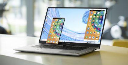 """Tietokonemyynti on vetänyt viime aikoina erinomaisesti, kiitos etätöiden ja -opiskelun kasvattaman kysynnän. Kuvassa Huawei MateBook D 15""""."""