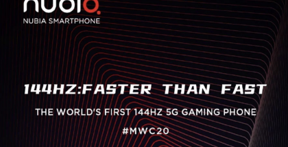 nubia esittelee Red Magic 5G -puhelimensa Mobile World Congress -messuilla.