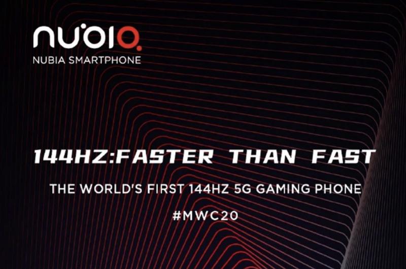 nubia esittelee Red Magic 5G -puhelimensa Mobile World Congress -messuilla.
