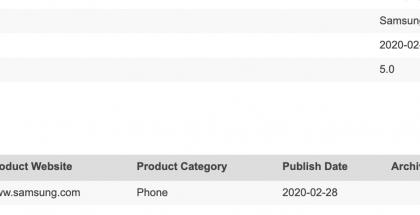Galaxy A71 5G mainittu Bluetooth-laitetietokannassa.