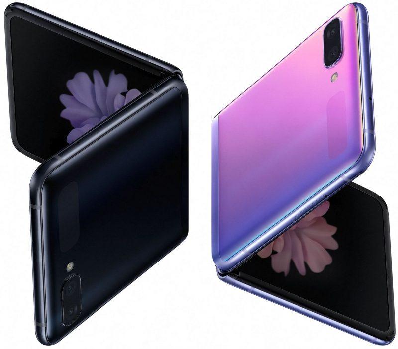 Samsung Galaxy Z Flipin värivaihtoehdot.
