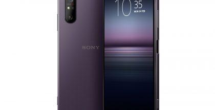 Sony Xperia 1 II violettina värivaihtoehtona.