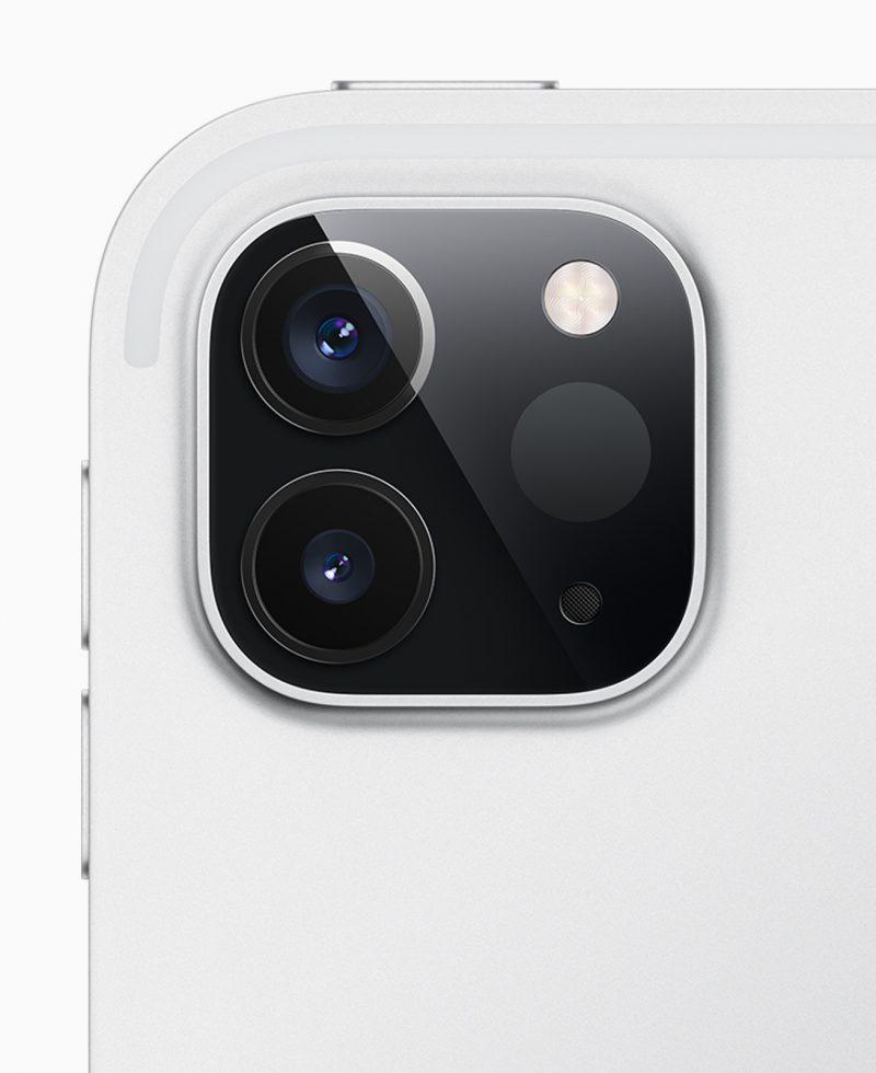 LiDAR-skanneri kahden kameran rinnalla nykyisessä iPad Prossa.