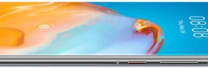 Huawei P40 Prossa ja P40 Pro+:ssa on kaareva näyttö.