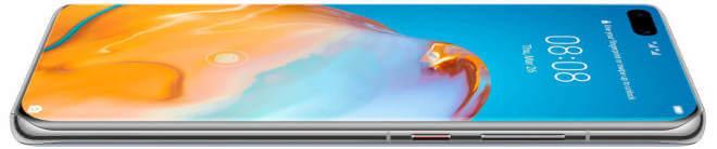 Huawei P40 Prossa on kaareva näyttö. Kuva: WinFuture.de.