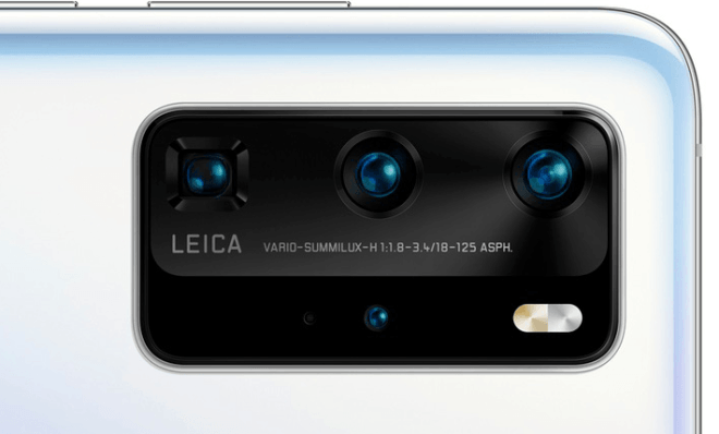 P40 Prossa on neljä takakameraa. Kuva: WinFuture.de.