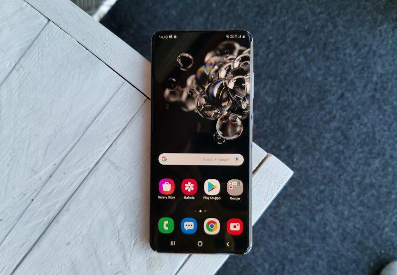 Samsung Galaxy S20 Ultra 5G on Android-puhelinten eliittiä.