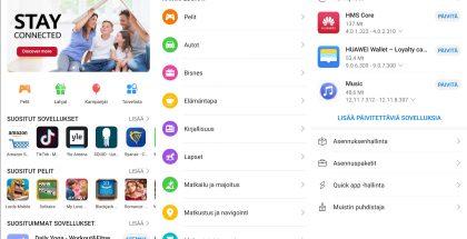 Huawei AppGalleryn valikoima kasvaa päivä päivältä, mutta vielä se on rajattu.