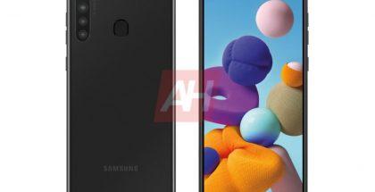 Samsung Galaxy A21 aiemmassa vuodossa. Kuva: Android Headlines.