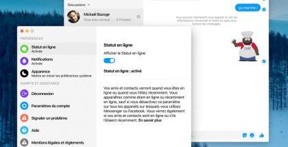 Facebook Messenger macOS:lle. Kuva: MacGeneration.