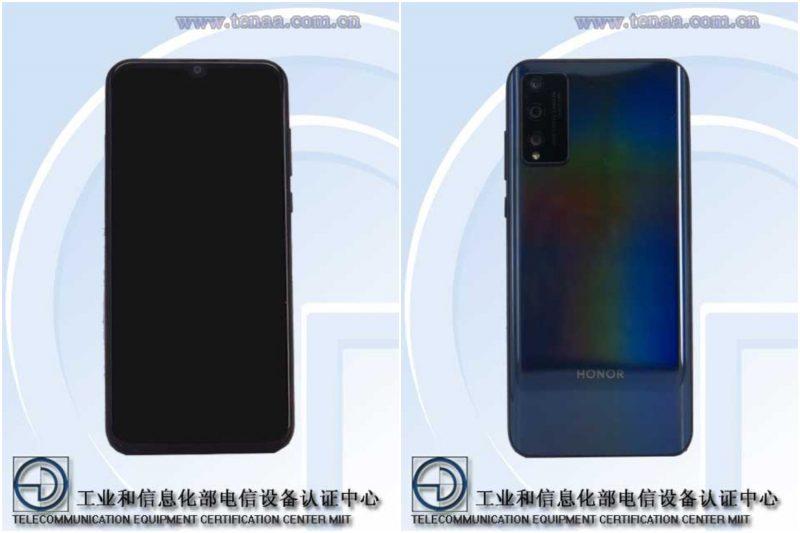 Uusi Honor-älypuhelinmalli, mallikoodi AQM-AL10, kiinalaisen TENAA-viranomaisen kuvissa.