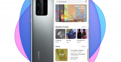 Huawei Music uudessa P40 Pro -puhelimessa.