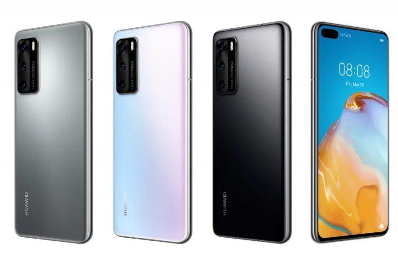 Huawei P40 eri väreissä.