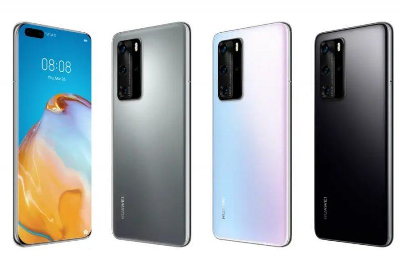 Huawei P40 Pro eri väreissä.