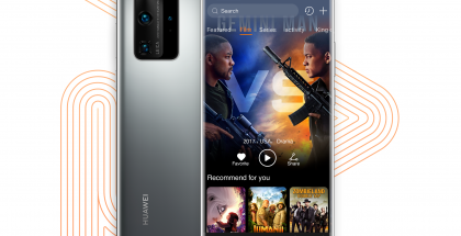 Huawei Video uudessa P40 Pro -puhelimessa.