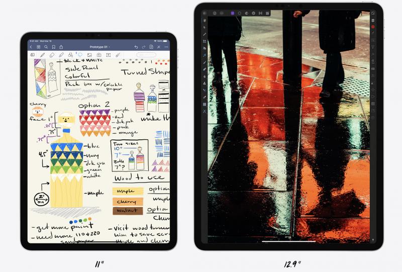 11 ja 12,9 tuuman iPad Pro.