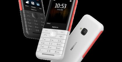 Nokia 5310 kahtena eri värinä.