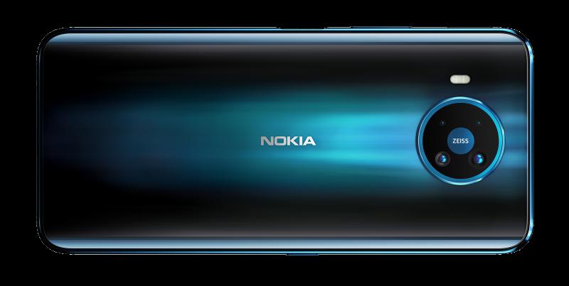 Nokia 8.3 5G:ssä on neljä takakameraa.
