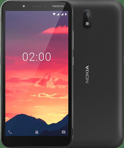 Nokia C2 mustana värinä.