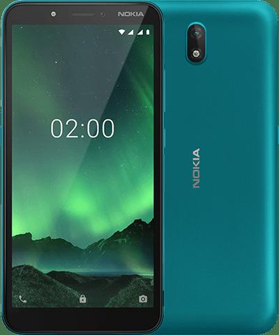 Nokia C2 syaanivärinä.