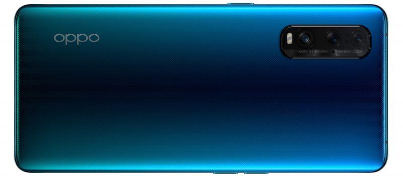Oppo Find X2 Ocean Glass -värissä.