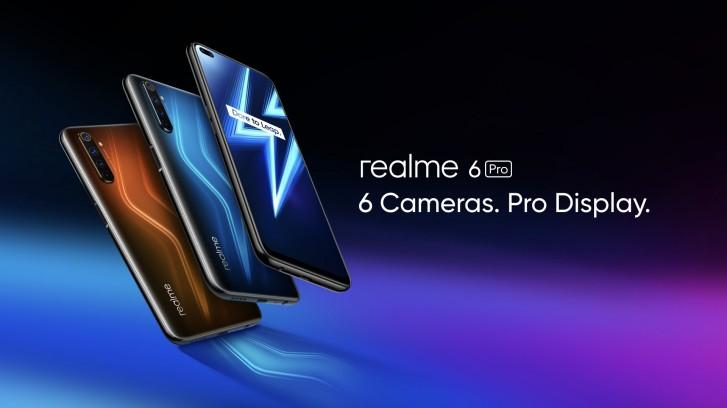 Realme 6 Pro eri väreissä.