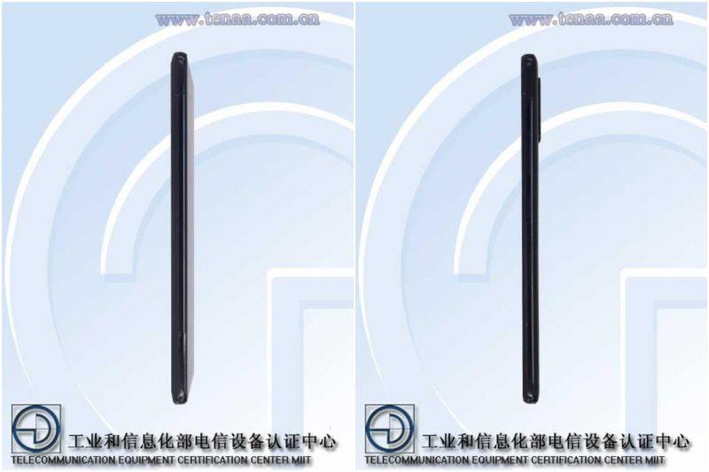 Samsung Galaxy A71 5G Kiinan TENAA-viranomaisen kuvissa.