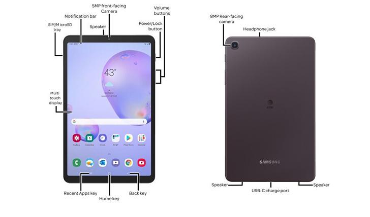 Uusi Samsung Galaxy Tab A 8.4 -tablettilaite. Kuva: Evan Blass.