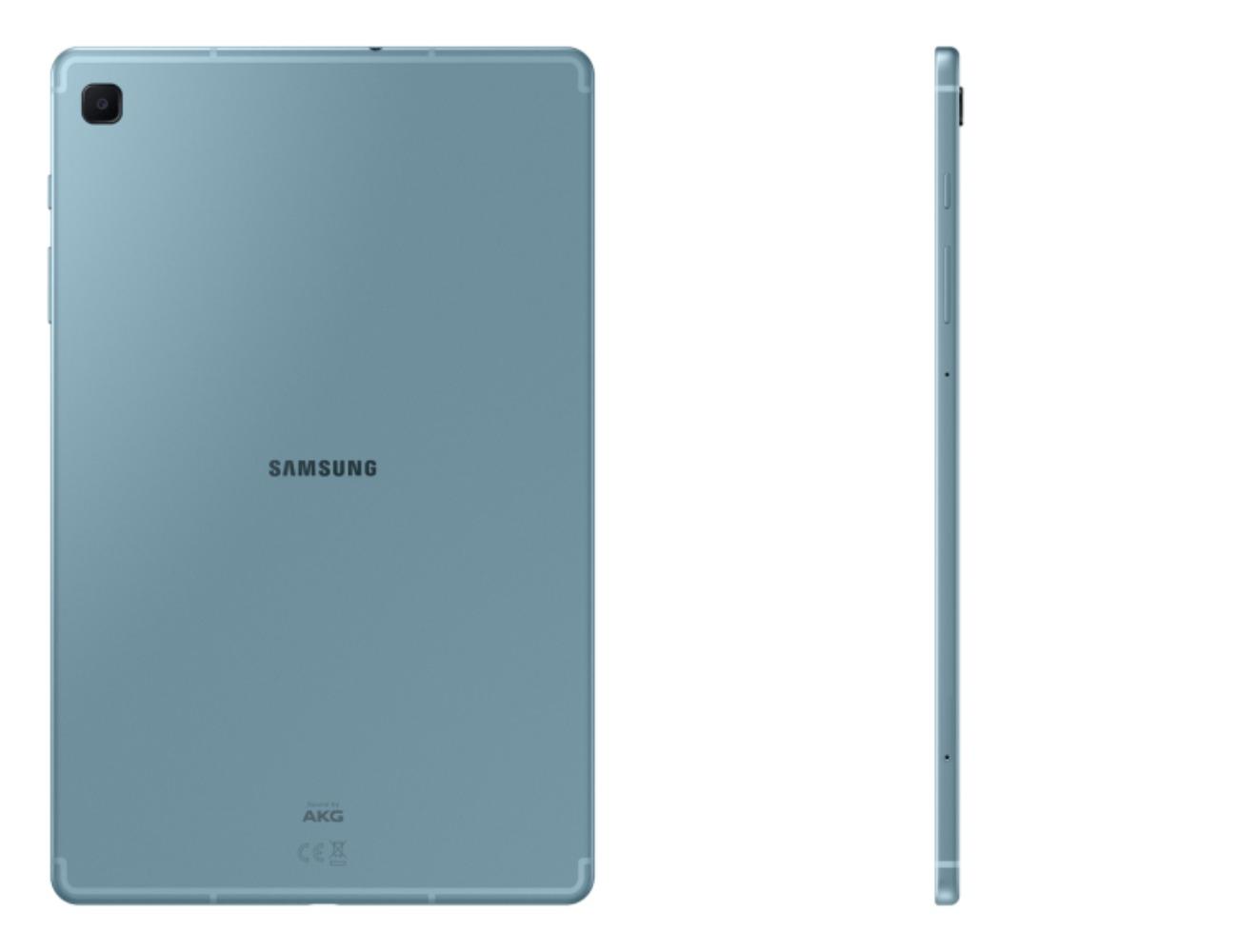 Samsung Galaxy Tab S6 Lite vaaleansinisenä värivaihtoehtona. Kuva: WinFuture.de.