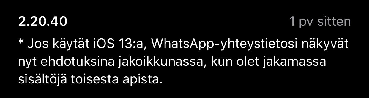 Uunituore Whatsapp Paivitys Iphonessa Helpottaa Jakamista Keskusteluihin Mobiili Fi