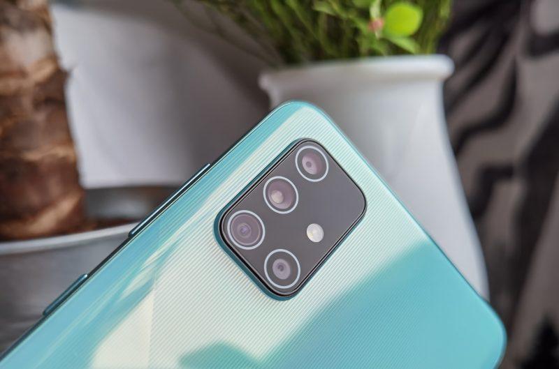 Samsung Galaxy A71:ssä oli neljä takakameraa, seuraajaan Galaxy A72:een odotetaan viittä.