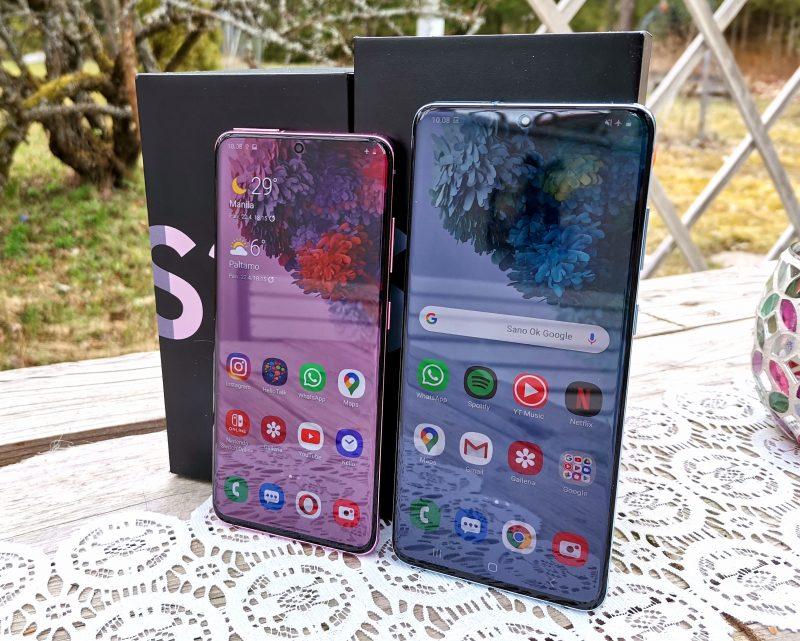 Samsung Galaxy S20 5G ja Galaxy S20+ 5G.